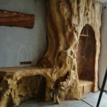 广州仿木雕塑批发|公园小区别墅景观摆件|仿木假树大门|园林景观仿木雕塑图片