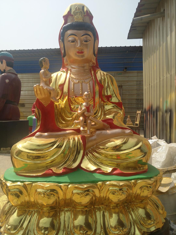 坐式观音铜雕佛像雕塑