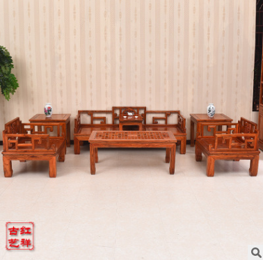 宫廷休闲实木沙发组合 沙发组合报价 沙发组合批发 沙发组合供应商