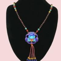 郑州五皇一后珠宝供应 石榴石毛衣链