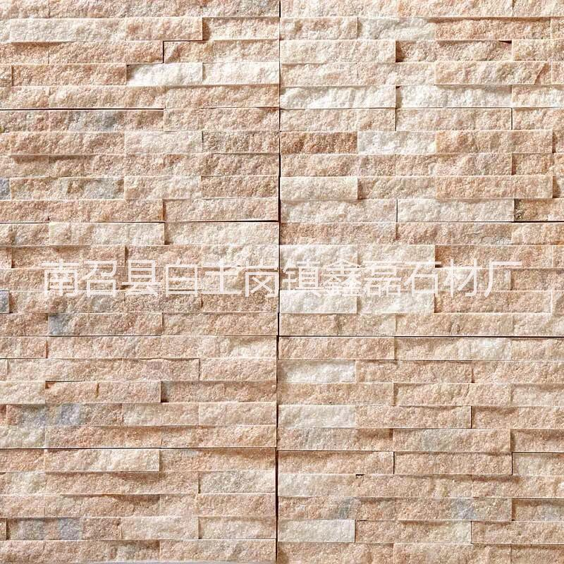 河南红加白仿古条石砖文化砖水幕墙沙发背景    河南仿古条石砖墙欧式文化砖外墙砖