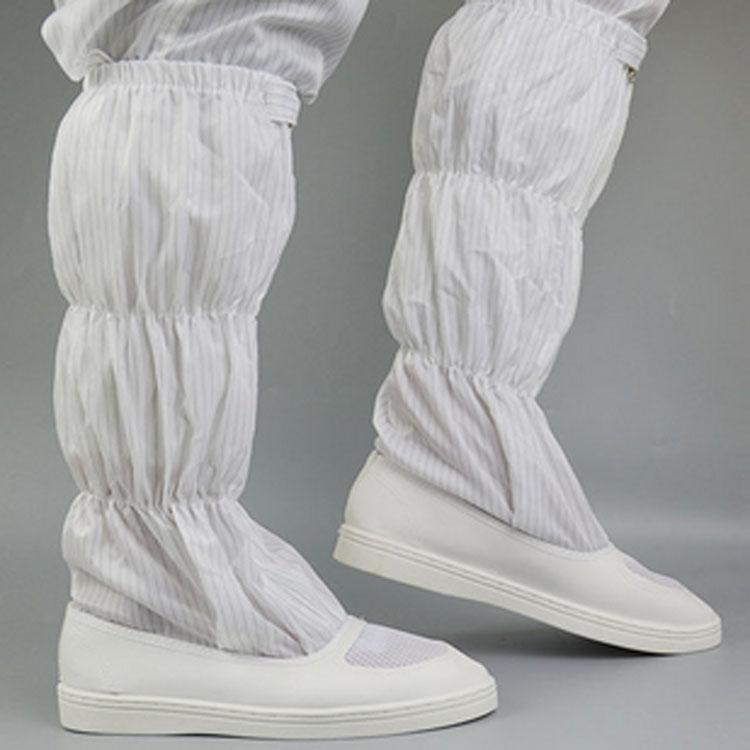 厂家批发防静电鞋子长筒高筒靴PVC底皮革面套筒靴 防静电长筒靴
