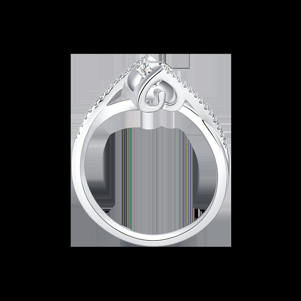 武汉Dmallovo/玛丽莱钻石Caress系列一吻定情 白18K金50分G色结婚钻戒