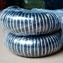 高温风管黑色高温硅胶软管高温热风管高温抽排风管耐高温软管热风机专用管 耐酸碱 耐高温黑色硅胶风管 黑色高温硅胶风管