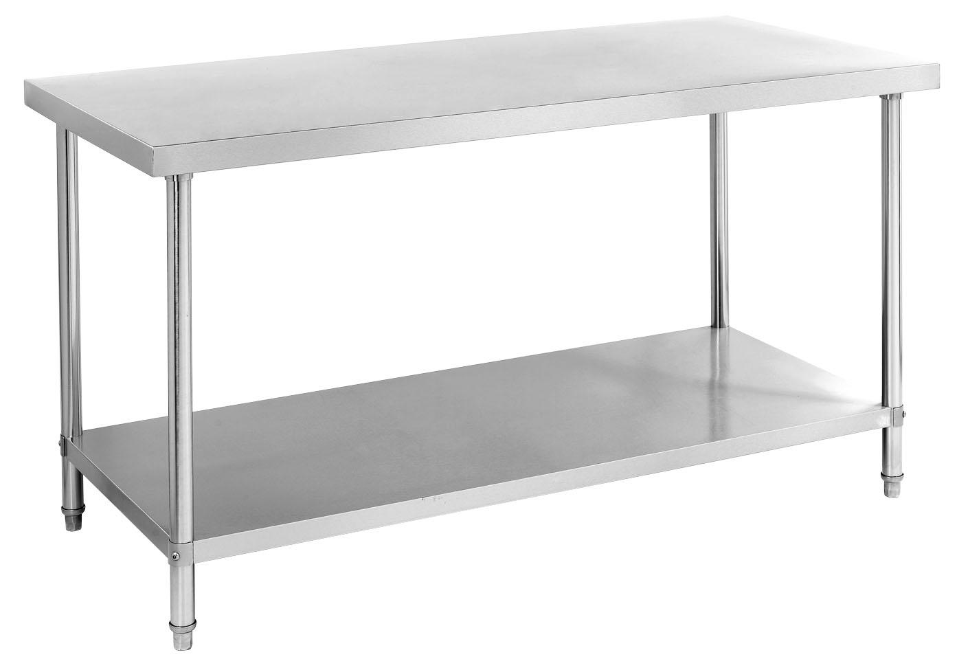 不锈钢工作台推拉门操作台打荷台饭店厨房桌子餐厅... _阿里巴巴