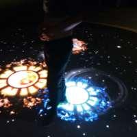 LED雷达互动地砖屏 互动地砖屏原理 LED智能互动(光学感应)地砖屏