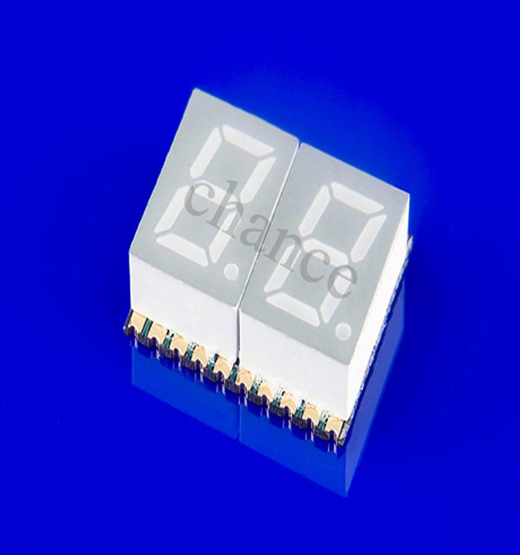 0.4英寸贴片数码管,双八数码管,白光/白色显示数码管,贴片LED数码管厂家直销,大量现货批发