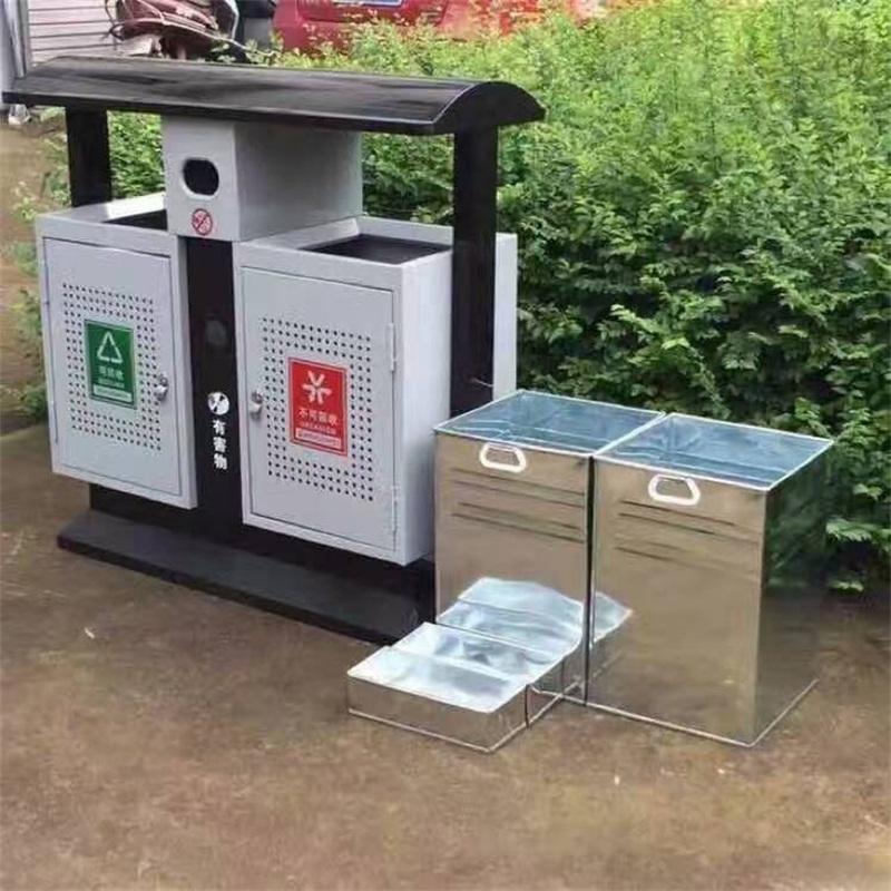 钢木垃圾桶 分类垃圾桶销售