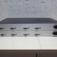 4路双向VGA高清光端机,4路双向VGA信号传输带4路双向立体声音频