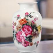 欧式创意粉彩陶瓷花瓶图片