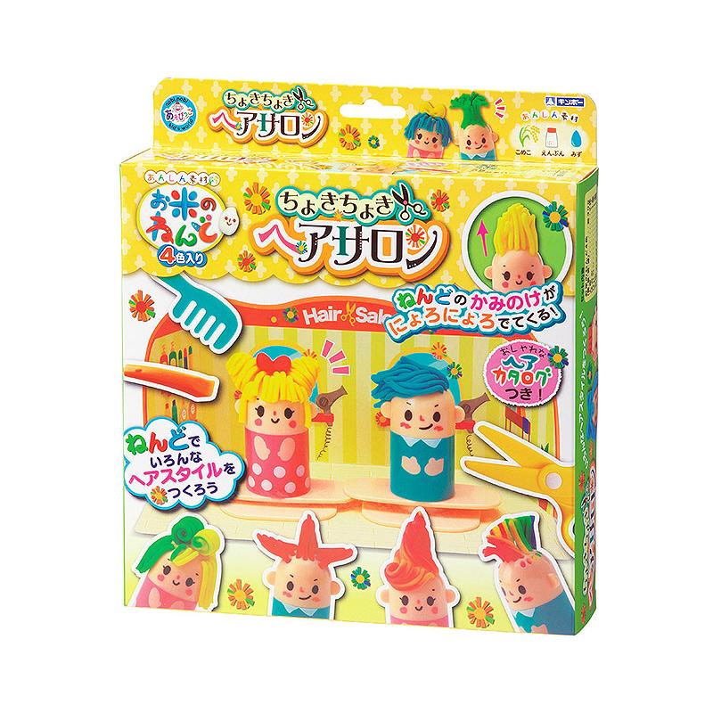 日本进口银鸟大米彩泥儿童益智玩具理发厅套装包邮批发