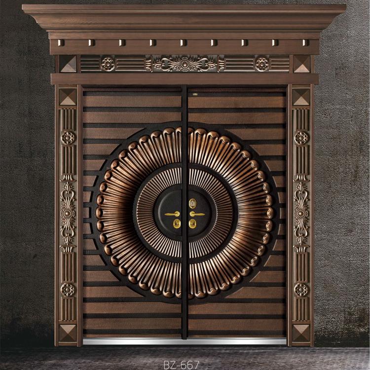 别墅入户门贝尔卡洛意式铸铝门0.8cm厚实心铝板 上海包安装 上门测量入户门 上海市贝尔卡洛总经销