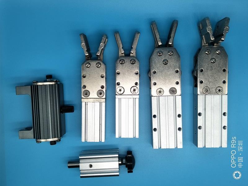 机械手配件 气动水口夹具夹子夹具气缸 防落气缸 机械手配件夹具爪旋组气缸