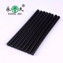 供应山东黑色热熔胶棒生产厂家高粘黑色假发手工制作热熔胶棒批发