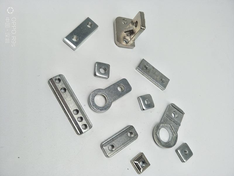 机械手治具零件金具固定块天行L块单双五孔螺母吸盘座固定配件