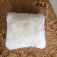 澳洲羊皮抱枕羊毛皮沙发靠垫图片