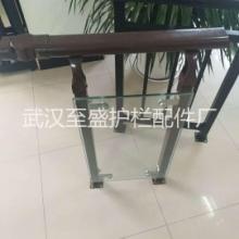 武汉厂家直销锌钢护栏阳台护栏ABS塑料L形玻璃夹 玻璃固定件