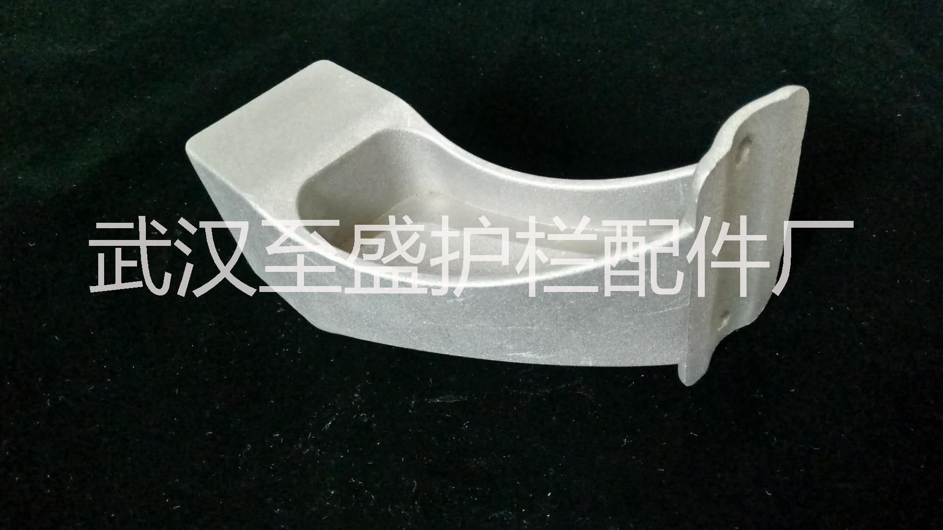 武汉厂家直销锌钢护栏压铸铝阳台护栏扶手接横栏管40*40弧形接头