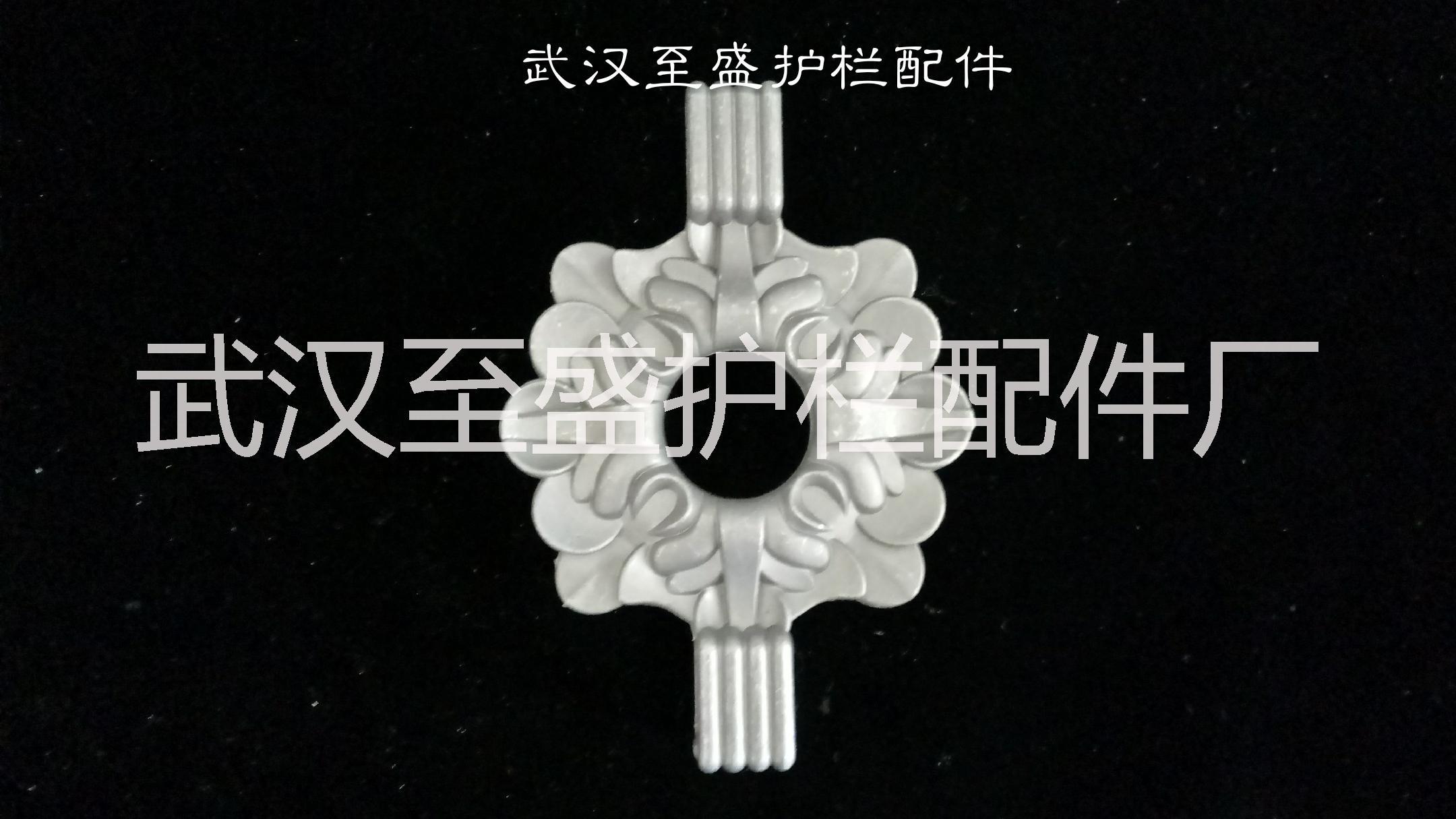 武汉厂家直销锌钢护栏压铸铝 25方管竖杆菱形小花装饰花件