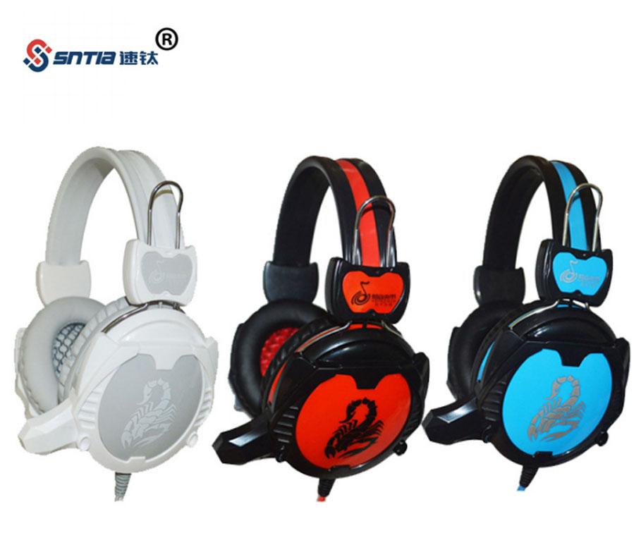 厂家直销OEM头戴式游戏耳机网吧网咖电竞馆台式电脑PC耳麦外贸定制款3.5带麦 蝎子王