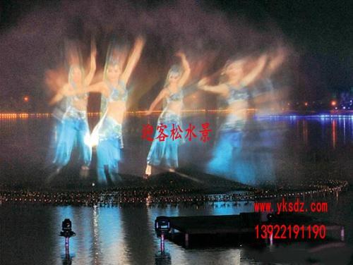 广州水雾投影工程  广州水雾投影水景