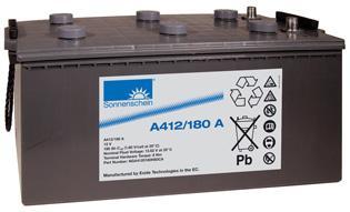 德国阳光蓄电池A412/180A 德国阳光蓄电池A412系列180AH