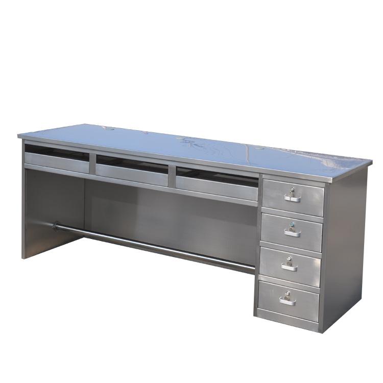 厂家供应加长不锈钢办公桌、不锈钢操作台、不锈钢操作椅