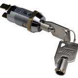 19mm平端子高品质梅花锁开关,圆管钥匙开关,UL品质保证钥匙电源锁