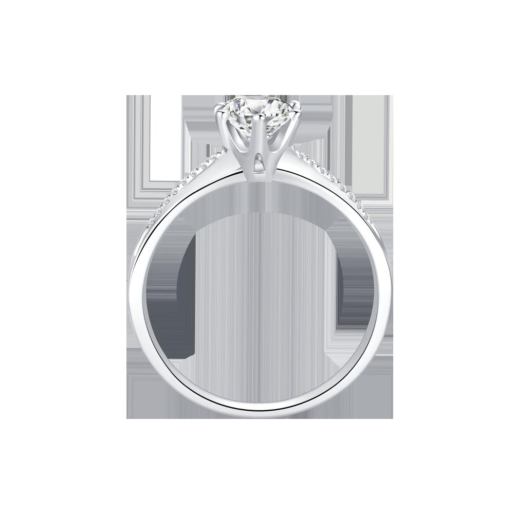 广东Dmallovo(玛丽莱钻石婚戒之Crown系列Princess 50分F色结婚钻戒