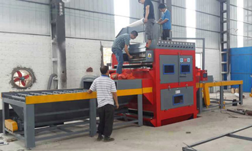 新型双面往返式自动喷砂机  不锈钢板双面自动喷砂机   黑龙江不锈钢板双面喷砂机