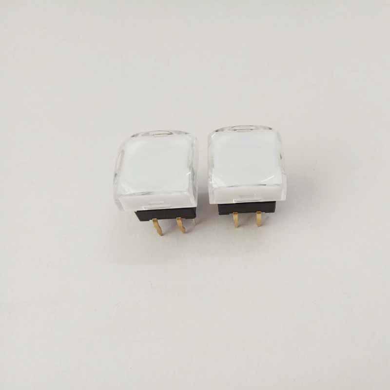 15X15方形带灯按键发光按钮控制台带灯开关轻触带灯开关