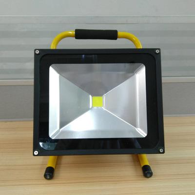 户外施工灯 室外照明灯50W无极旋钮调光充电投光灯 泛光灯批发