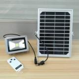 厂家直销10W遥控太阳能泛光灯 批发户外投射灯室外照明灯具
