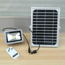 厂家直销10W遥控太阳能泛光灯批发户外投射灯室外照明灯具批发