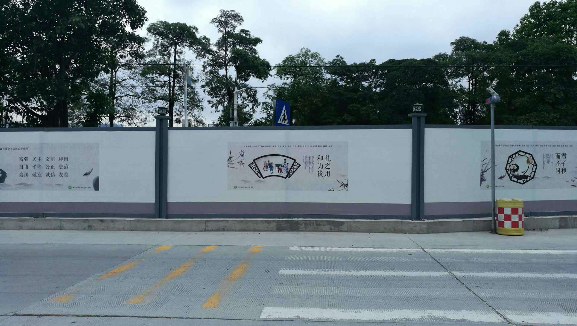 供应工程烤漆面板围墙价格