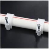 特种钢钉管卡 加大加厚塑料管卡 PVC线管固定电工套管卡16MM 100只/件