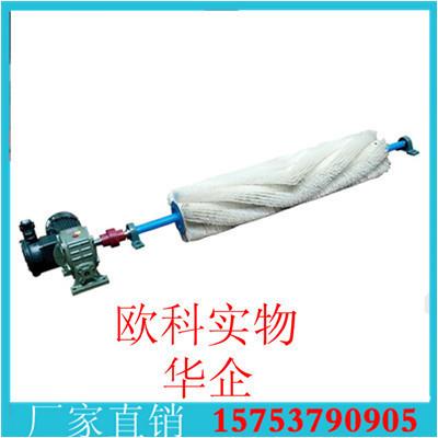 电动毛刷清扫器滚刷式皮带清扫器电动螺旋尼龙滚刷清洁器