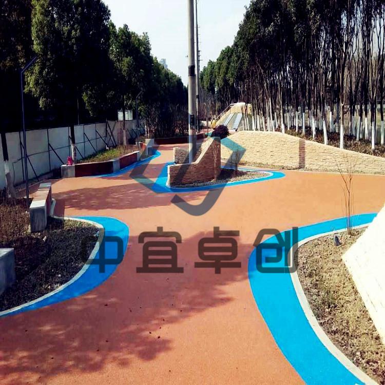 苏州市发光透水路面铺装荧光石炫彩路面