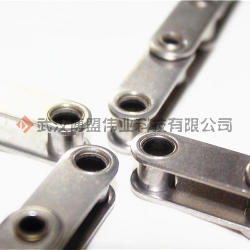 武汉博盟现货不锈钢空心销轴链条 SSC2040HP高品质304不锈钢空心链 工业传动滚子链特殊订制专业厂家