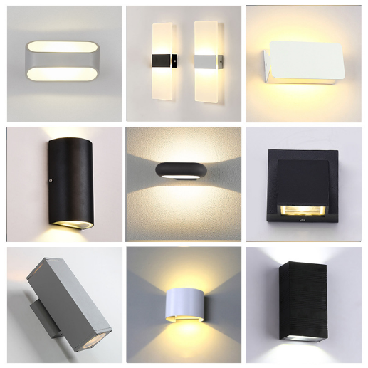 双头防水壁灯 简约户外壁灯12w球形现代景观过道床头走廊LED壁灯