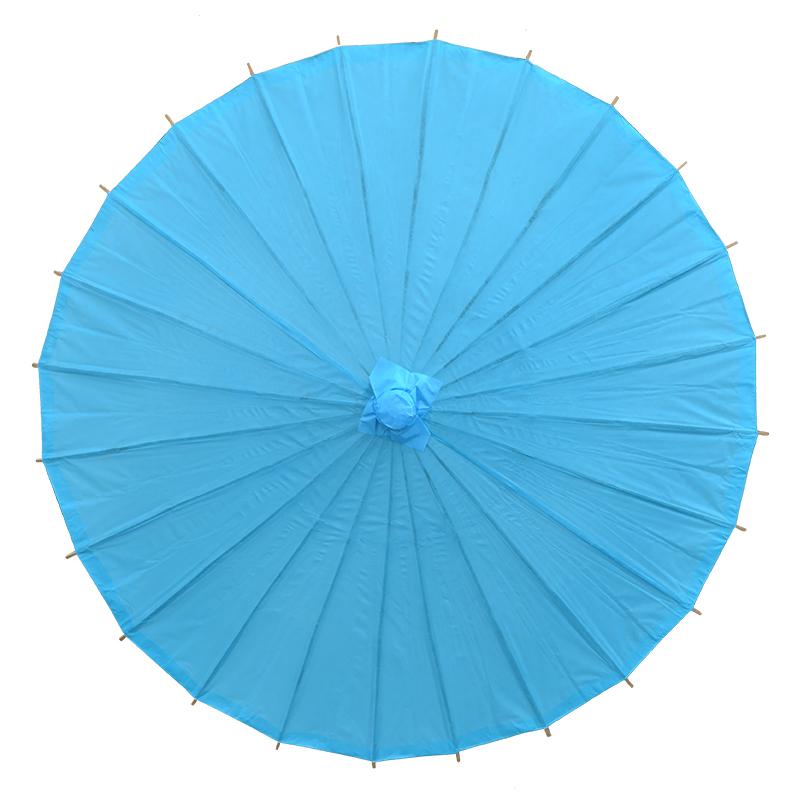 diy空白彩色油纸伞手工绘画伞白胚手绘纯色伞吊顶装饰伞演出道具