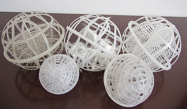 悬浮球80 -曝气池填料曝气球-多孔球型悬浮填料厂家价格