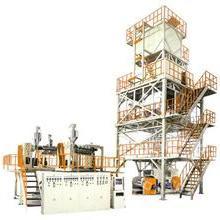聚烯烃热收缩膜塑料吹膜机械 三层共挤POF热收缩膜吹膜机组