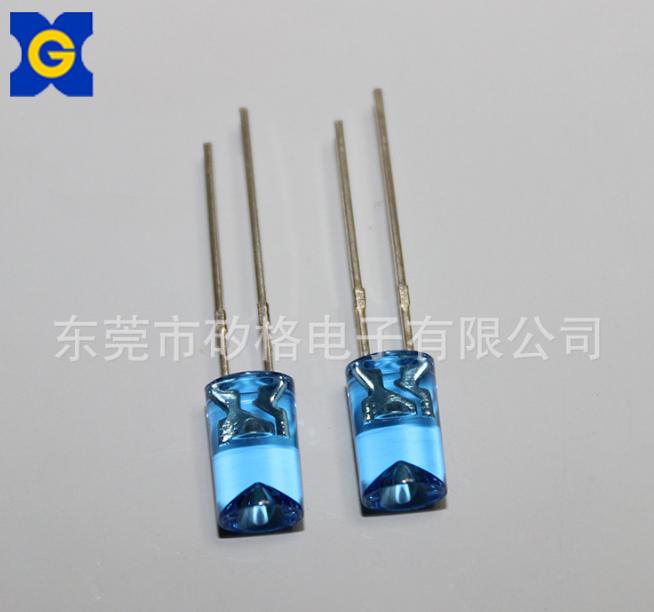 LED灯珠 5mm内凹蓝色透明 白发白光led二极管 东莞工厂批发