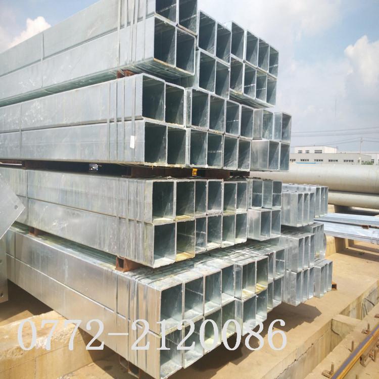 广西柳州Q235B镀锌钢管镀锌方管热镀锌方管厂