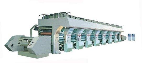 双色塑料袋印刷机 塑料袋印刷机 彩色塑料袋胶印机、印刷机械