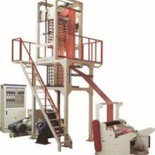 高产优质双色彩条吹膜机 供应高速吹膜机,双色彩条塑料吹膜机组批发