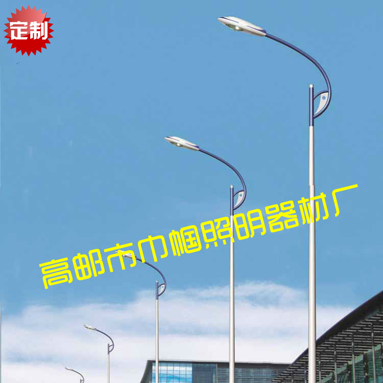 路灯灯杆10米 厂家直销 10米户外照明灯杆加工 路灯灯杆10米 防腐质保20年