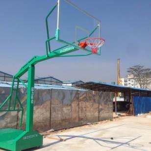 可移动式户外标准篮球架送货安装图片