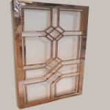 专业定制 不锈钢镜面屏风 管焊花格屏风